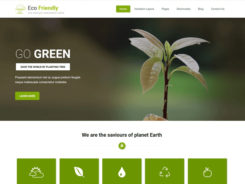 Eco Friendly Lite Free Environmental WordPress Themes