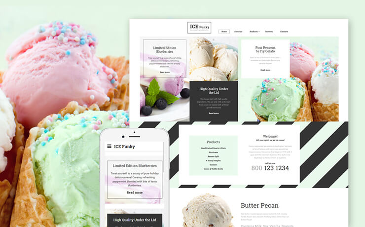 Mouth Watering Food Bootstrap Templates