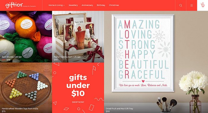 Giftior - Hearty OpenCart Template