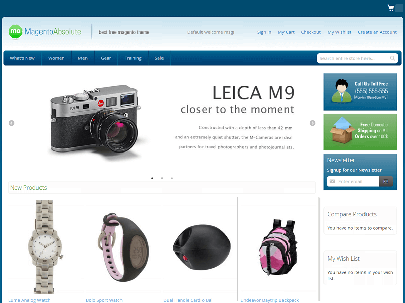 Absolute Best Free Magento Themes