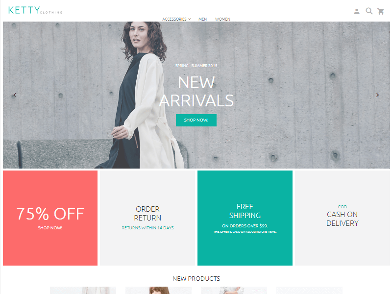Ketty Best Free Magento Themes