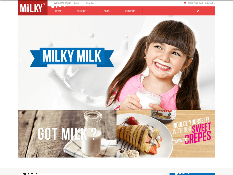 Milky Free Shopify Themes