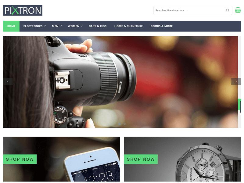 Pixtron Best Free Magento Themes