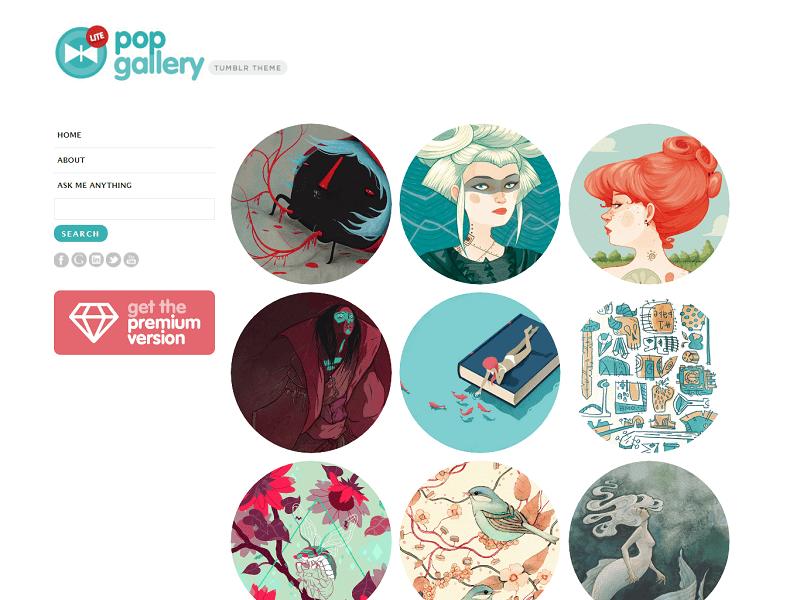 PopGallery Lite Free Tumblr Themes