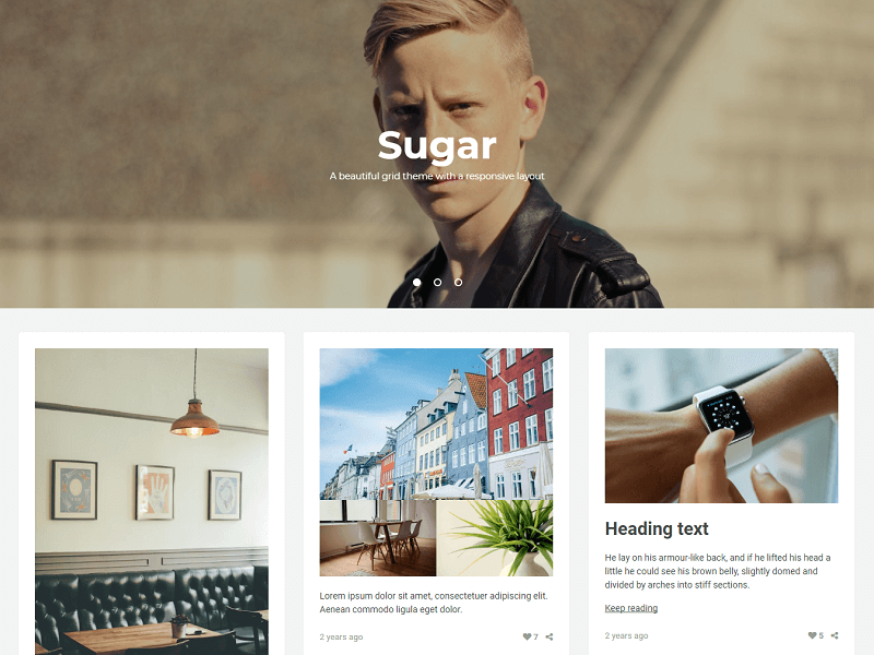 Sugar Free Tumblr Themes