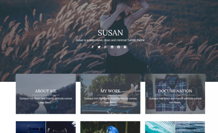 Susan Free Tumblr Themes