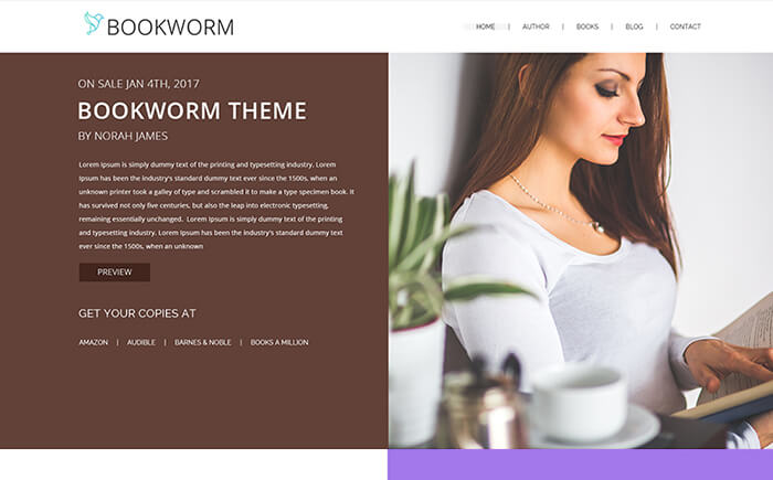 WordPress Themes for Writers and Authors
