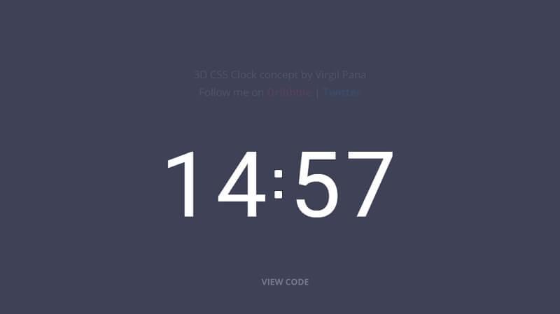 3D CSS clock