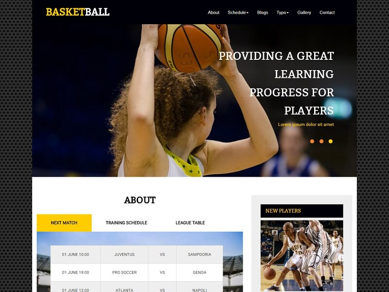 Free Sports HTML Website Templates