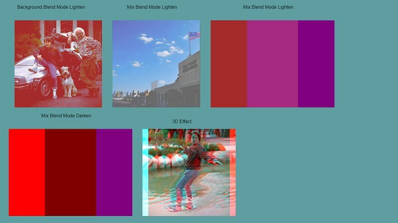 CSS Blend Modes free HTML CSS Image Effects