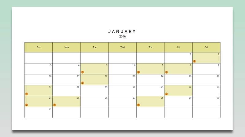 CSS Calendar