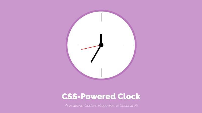 CSS-Powered Clock