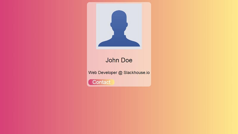 CSS Practice - Very simple CSS card