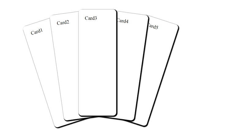 CSS cards with hover-Effekt