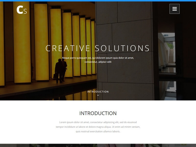Free One Page HTML Website Templates
