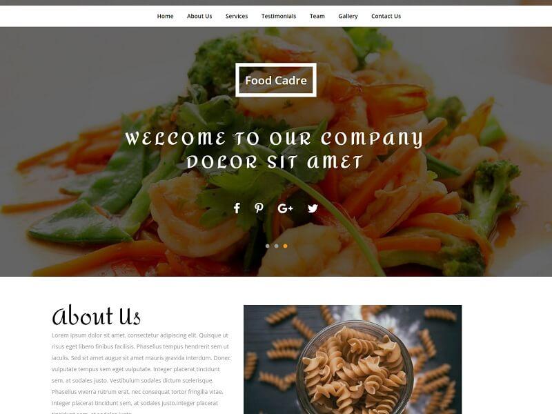 Free Restaurant HTML Website Templates