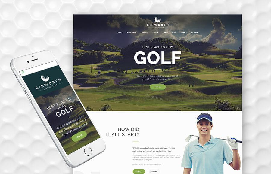 Golf Club Masculine WordPress Themes