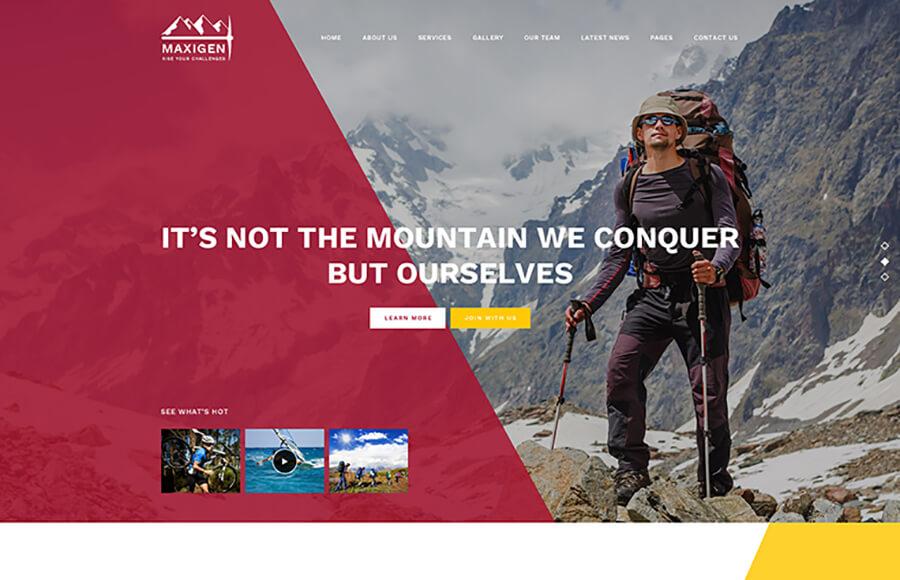 Hiking Masculine WordPress Themes