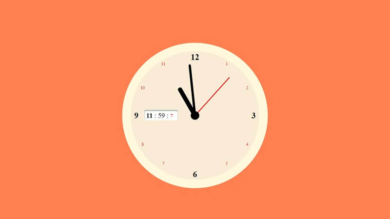JS+CSS Clock with Sound