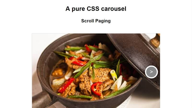 Pure CSS carousel that preserves history Free HTML CSS Carousels