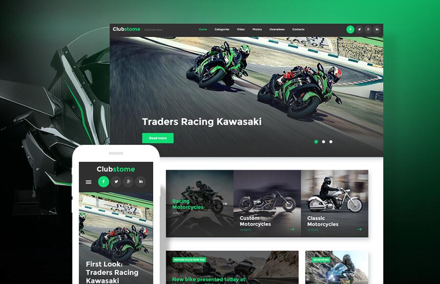 Sports Racing Masculine WordPress Themes