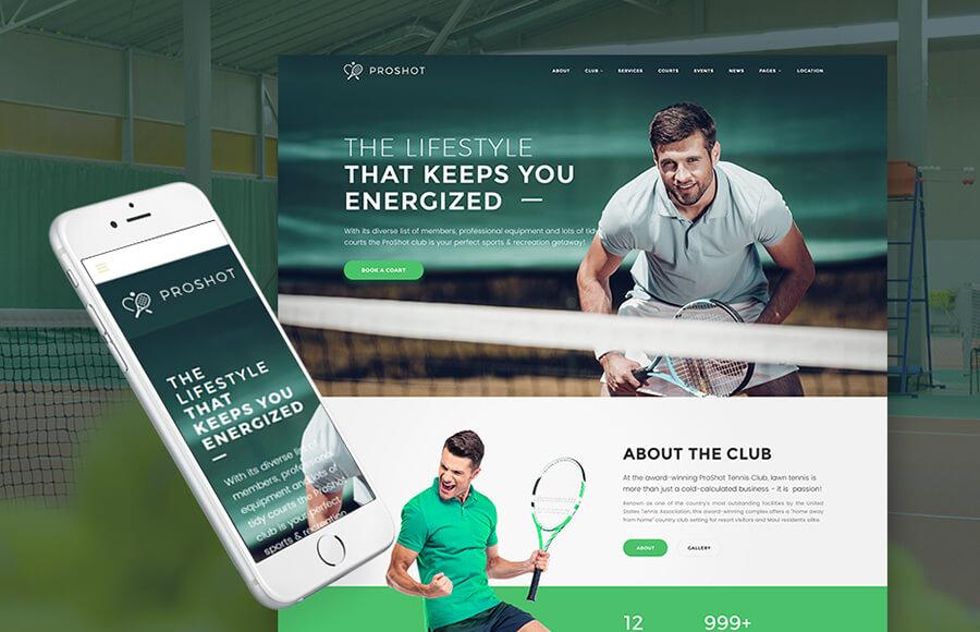 Tennis Masculine WordPress Themes