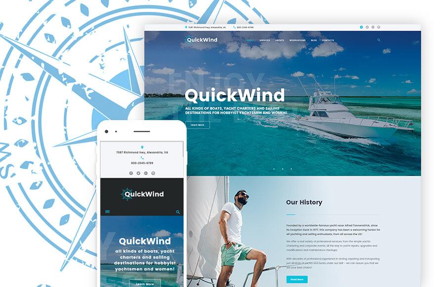 Yachting Masculine WordPress Themes