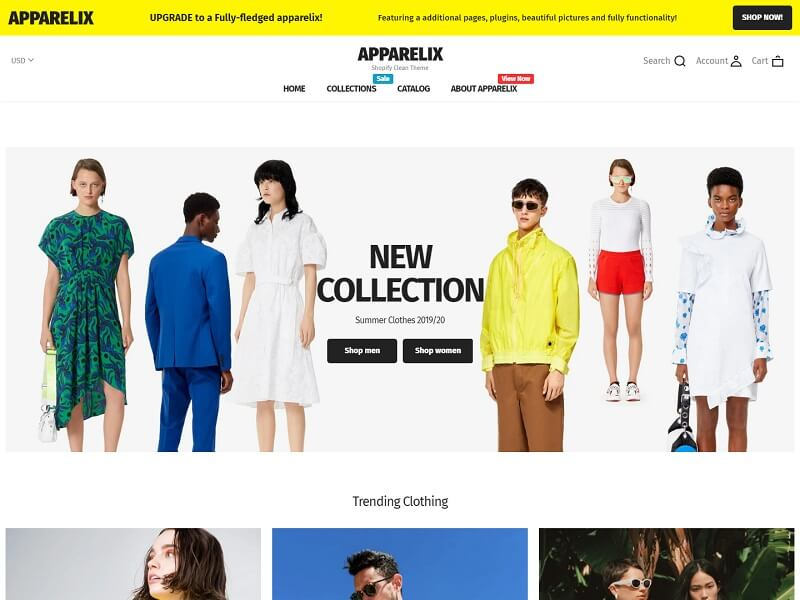 Apparelix Free Shopify Themes