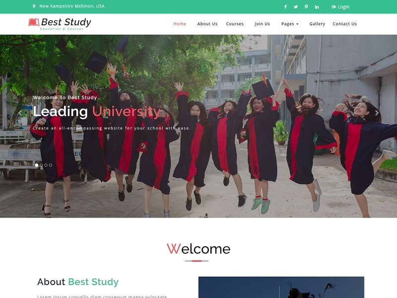 Best Study Free HTML Website Templates