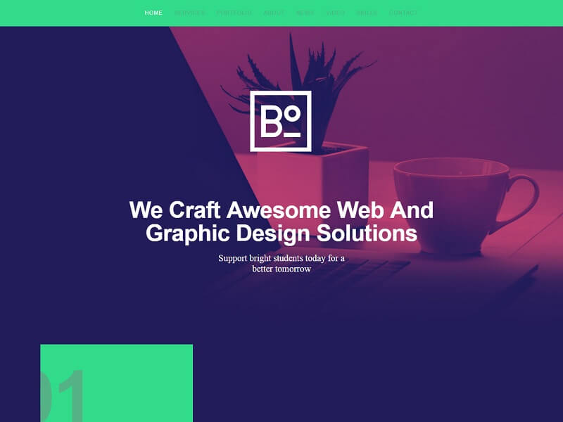 Boxus Free HTML Website Templates