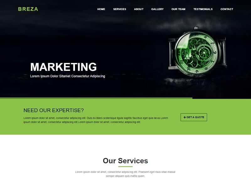 Breza Free HTML Website Templates