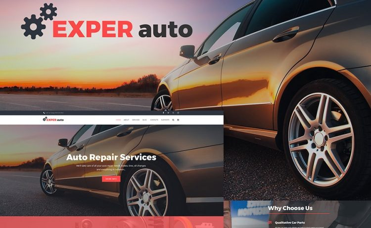 WordPress Themes for Car and Motorcycle Repair Services