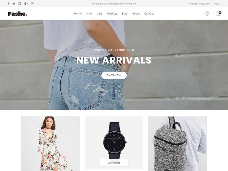 Fashe Free Shopify Themes
