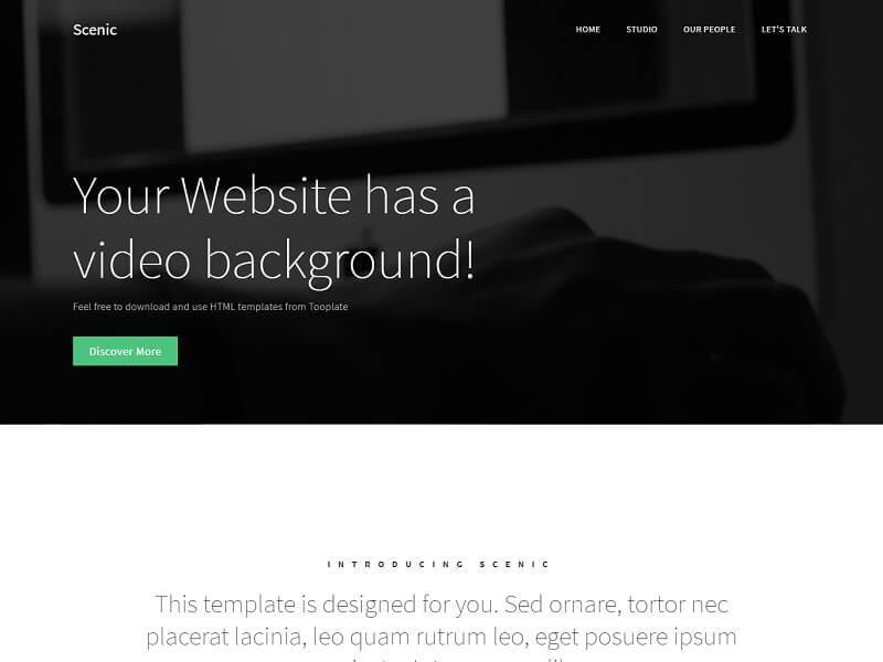 Scenic Free HTML Website Templates