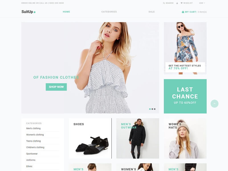 SuitUP Free Shopify Themes
