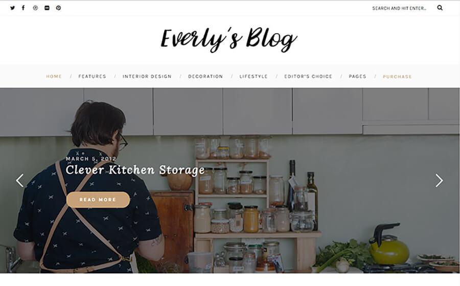Everly Blogging WordPress Themes