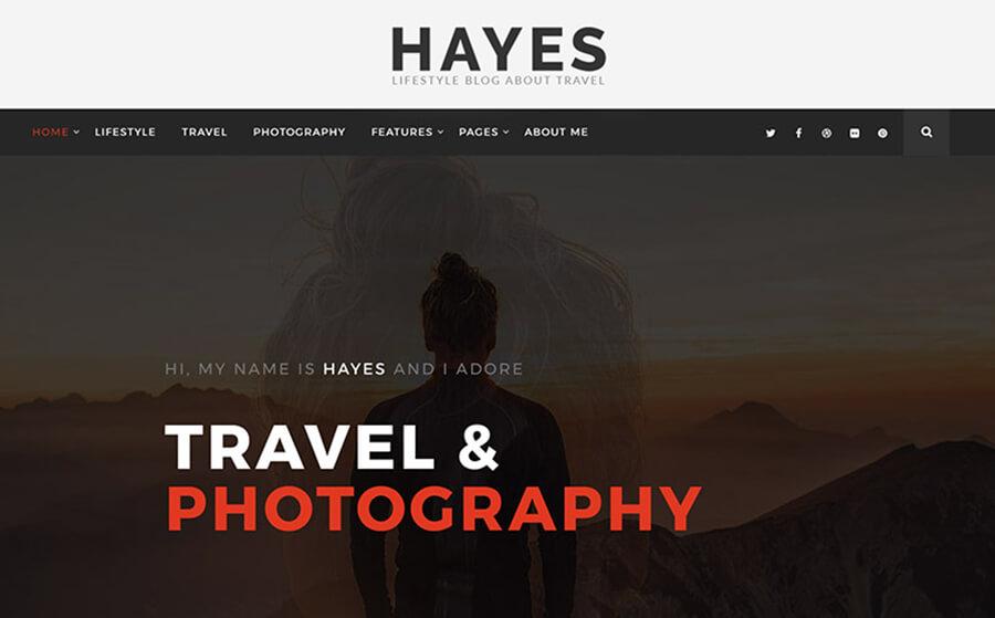 Hayes Blogging WordPress Themes