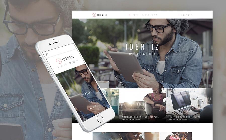 Identiz Blogging WordPress Themes