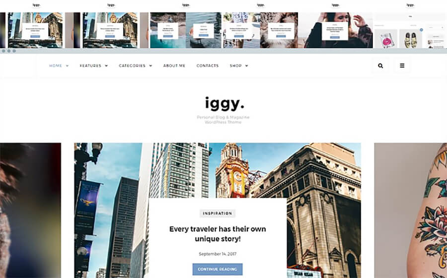 Iggy Blogging WordPress Themes