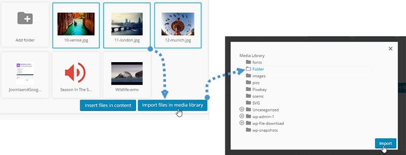 Import Media Google Drive