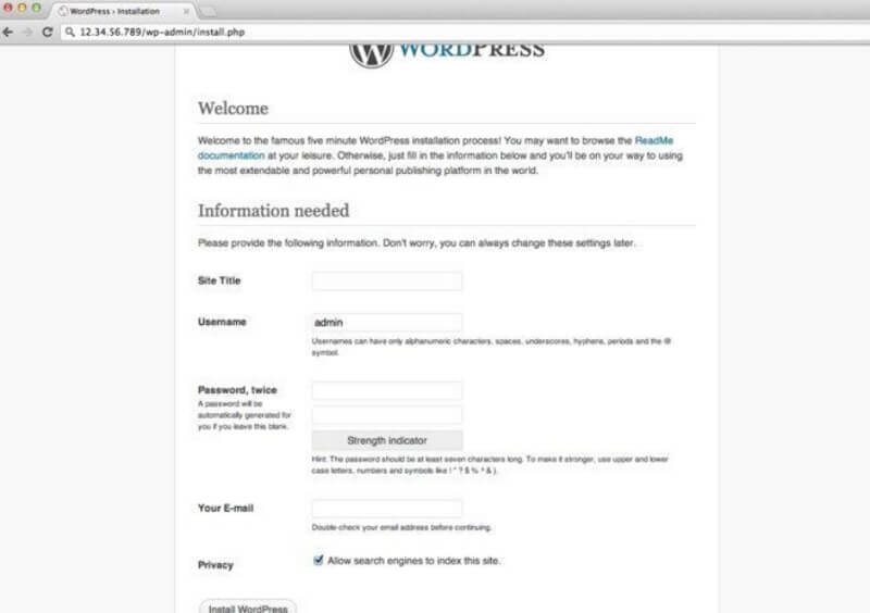 Install WordPress and Choose a Theme