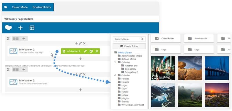 Visual Composer Media Folder
