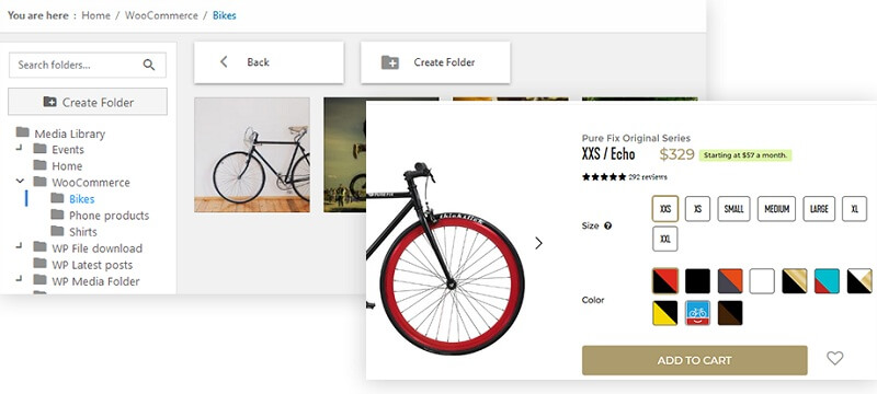 WooCommerce Media Folder