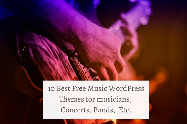 Best Free Music WordPress Themes In 2020