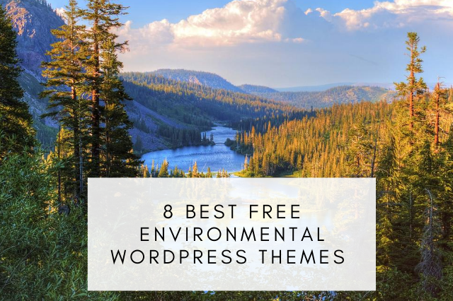 Best Free Environmental WordPress Themes