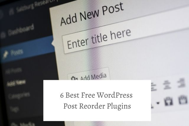 Best Free WordPress Post Reorder Plugins