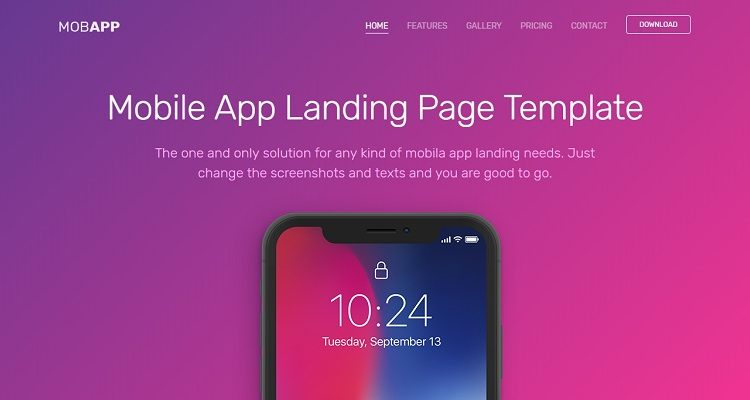 Free Landing Page HTML Website Templates