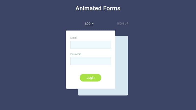 Animated Forms