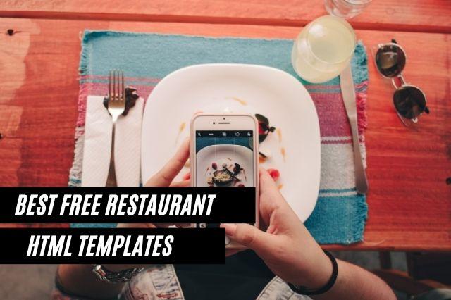 Best Free Restaurant HTML Website Templates