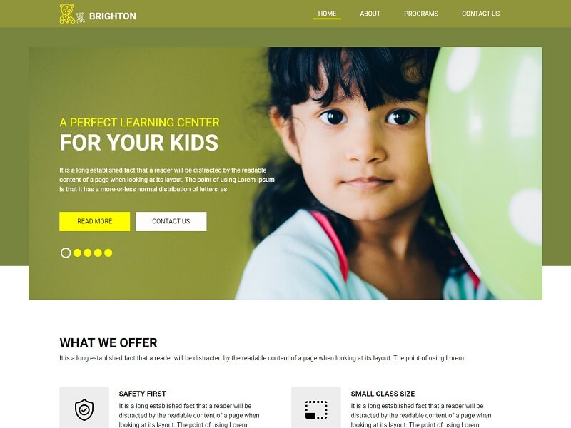 Brighton Free Popular HTML Website Templates
